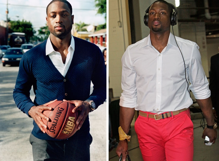 Dwyane Wade showing the versatility of a white dress shirt.
