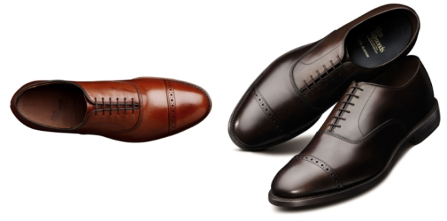The over-all shape of your dress shoes should look like these shoes.
