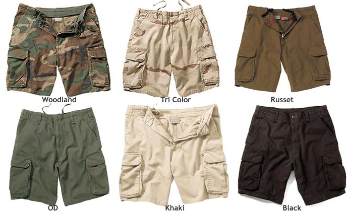 Mens Cargo Shorts 9 Inch Inseam
