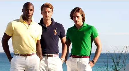 Notice the fit of these polos.