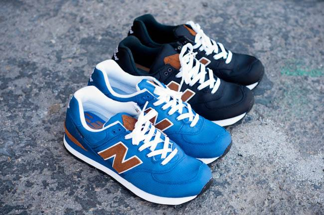 The New Balance 574 has become a popular choice for casual street wear.