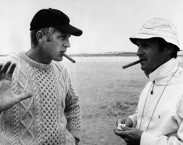 McQueen making a cable knit look cool.