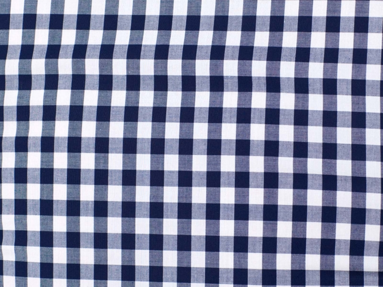 Navy gingham is a great pattern for any kind of button up shirt.