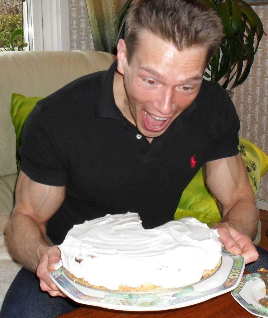 Martin getting ripped on Cheesecake.