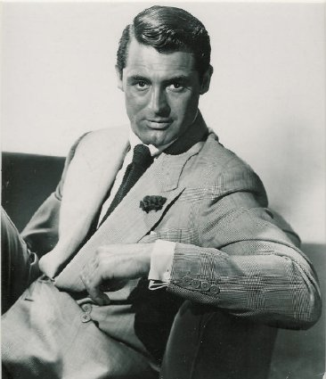 Cary Grant showing off his boutonniere.