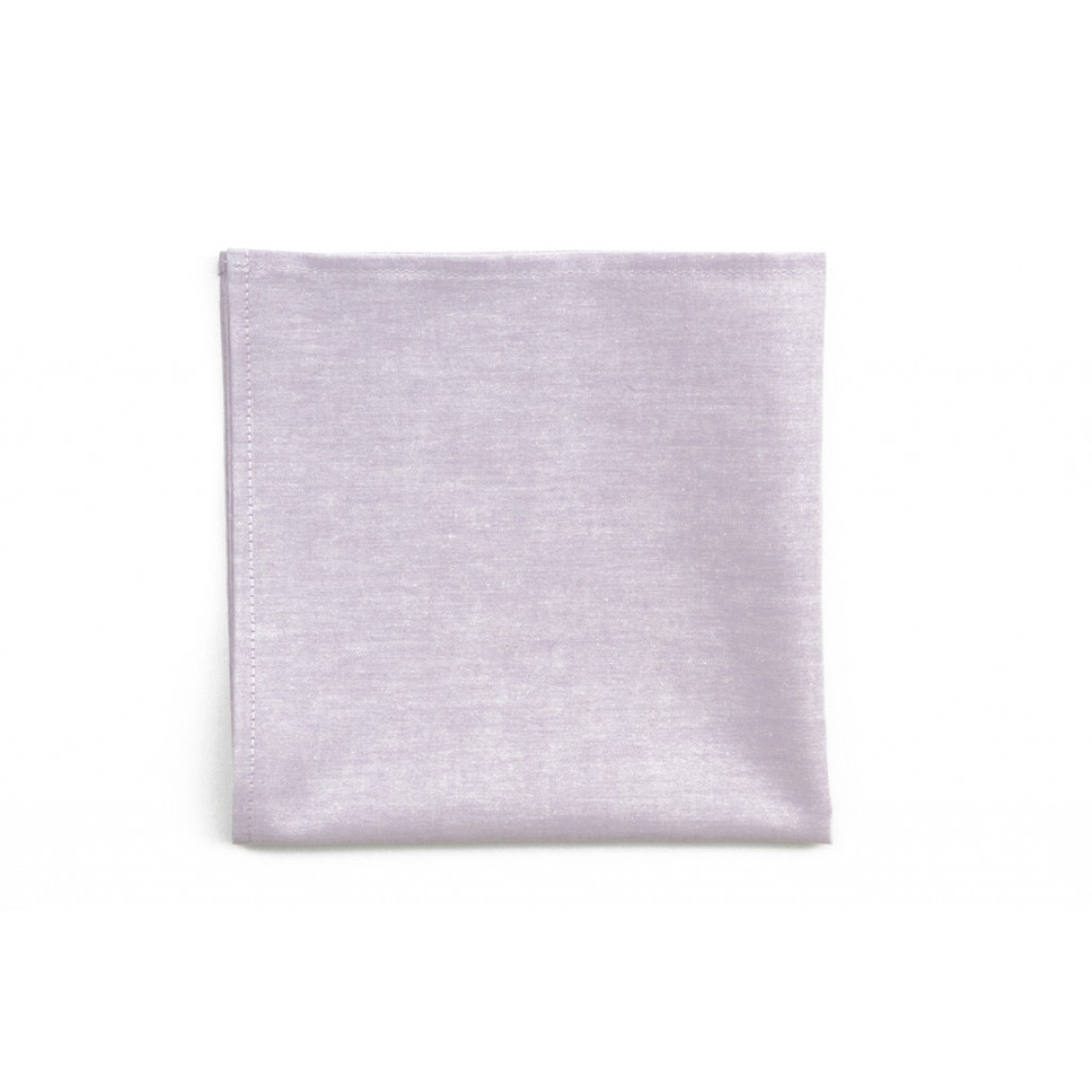 A basic white cotton pocket square - the workhorse of pocket squares.