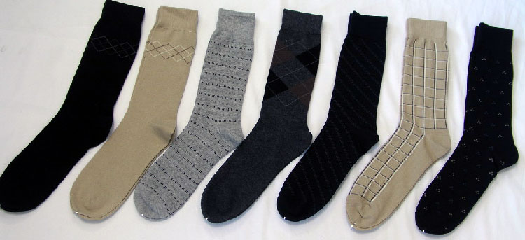 A fine selection of men's casual socks.