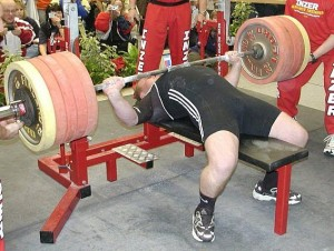 What a proper bench press set up looks like.