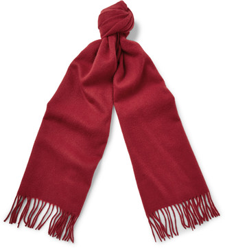 j.crew red cashmere scarf