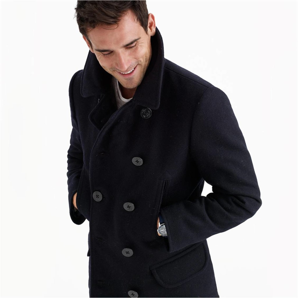 dock pea coat j crew